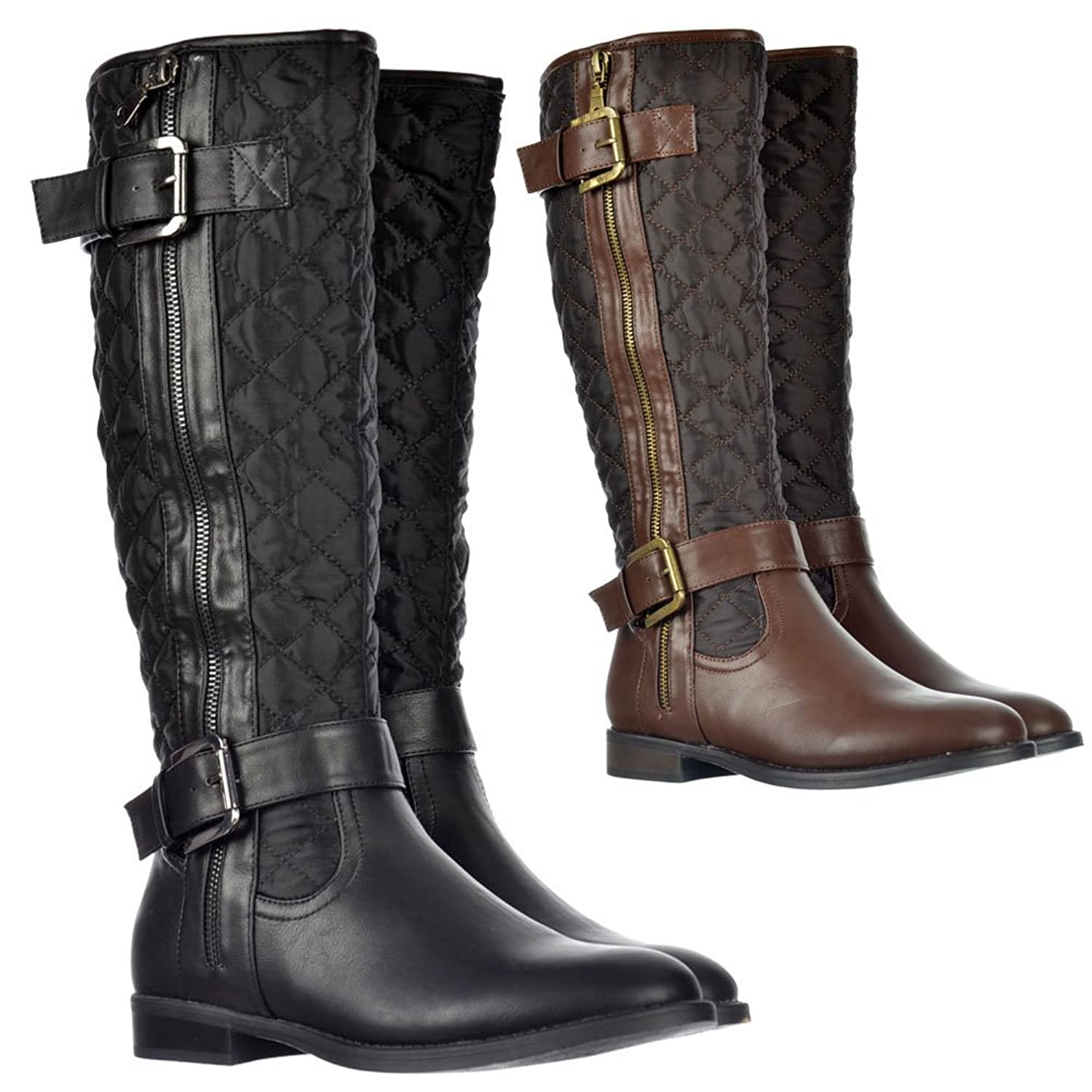 Black Quilted Boots - Boots Price & Reviews 2017 : brown quilted riding boots - Adamdwight.com