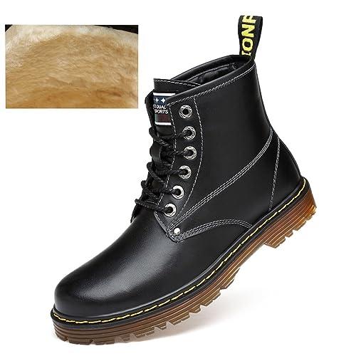 ailishabroy Botines Cortos de Cuero Negro para Hombre con Botas Hombres: Amazon.es: Zapatos y complementos