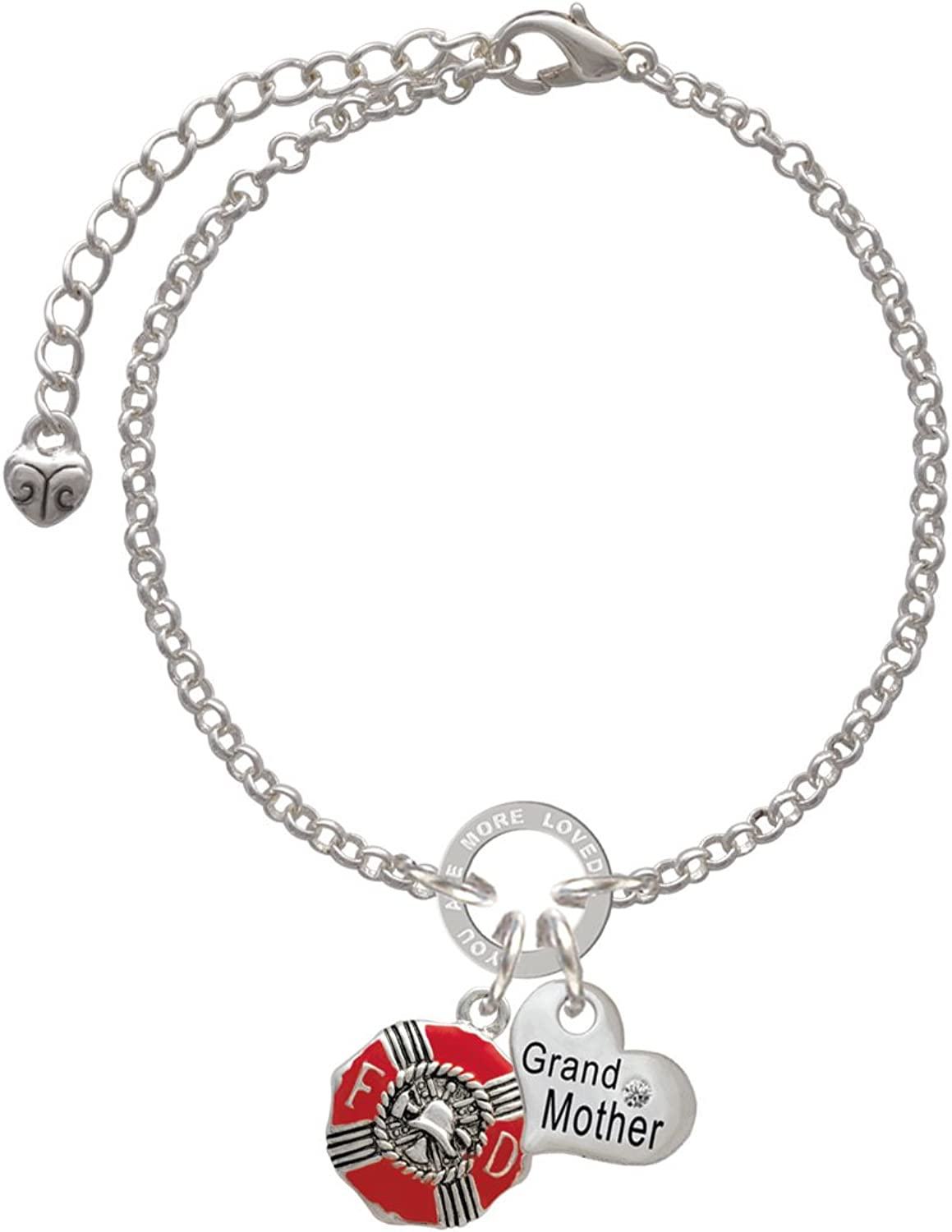 Silvertone Number 9 Aunt You Are Loved Circle Bracelet 8