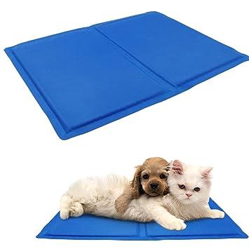 Alfombrilla de refrigeración para mascotas de verano, cómoda y extra grande, activada por presión