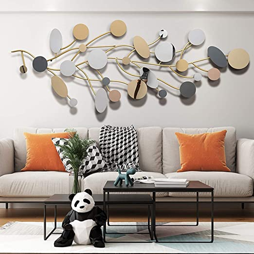 Amazon Com Sfxyj Metal Sculpture Wall Art Creative Nordic Wrought Iron Wall Hanging Decoration Metal Wall Decoration Pendant For Home Kitchen Bedroom Home Kitchen