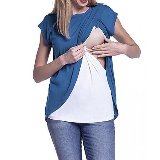 1abe01679fc Amazon.com: Clearance Sale! Women's Maternity Nursing Wrap Top Cap ...