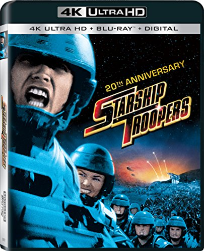 4K Blu-ray : Starship Troopers: 20th Anniversary (With Blu-Ray, Anniversary Edition, Ultraviolet Digital Copy, 4K Mastering, Widescreen)