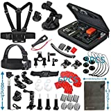 Vanwalk 12-in-1 Outdoor Sports Accessories Kit for GoPro HERO 4/3+/3/2/1 SJ4000 SJ5000 SJ6000 Chest Strap / Head Strap / Selfie Stick / Suction Cup / Bike Mount