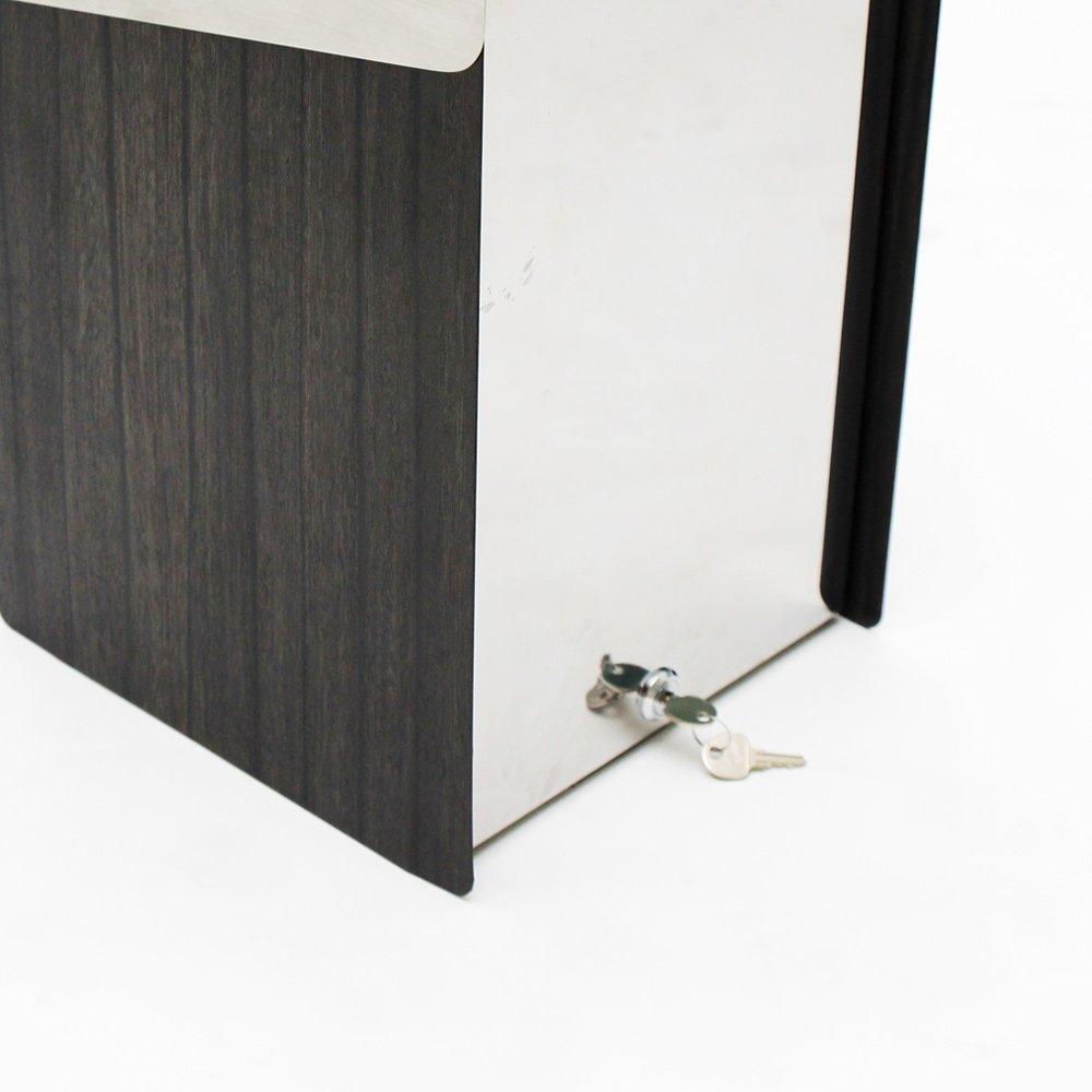 KATANABOX ''Mega'' - Stainless Steel Post-Mount Modern Design Mailbox, Lockable (Red) by KATANABOX (Image #7)