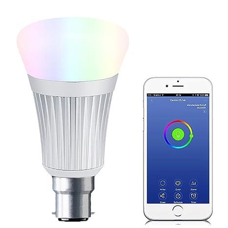 Bombilla LED inteligente con Wifi, 7W RGBW, más de 16