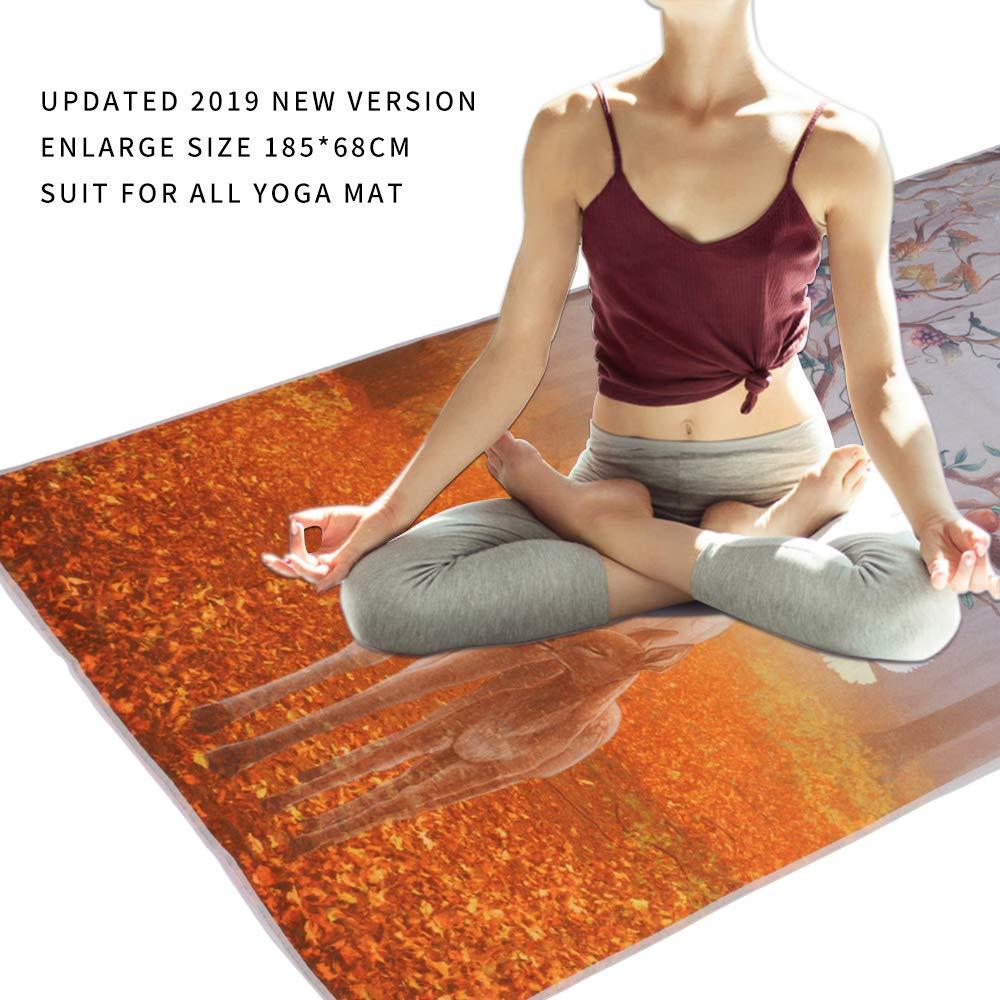 Amazon.com: Toalla de yoga antideslizante absorbente del ...