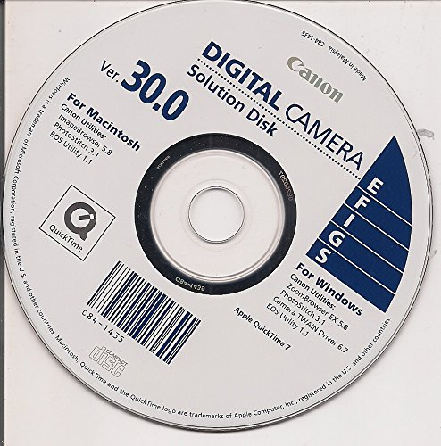Canon Digital Camera Solution Disk Ver. 30.0 Digital Camera Solution Cd Rom