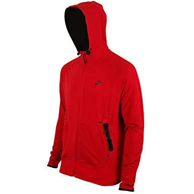 3b9f1957268c Mens Nike Red Running Training Hoody Full Zip Hoodie Hooded Sweater Top XXXL