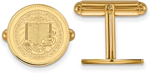 22mm x 15mm 925 Sterling Silver Yellow Gold-Plated Official U of California Berkeley Medium Crest Pendant Charm