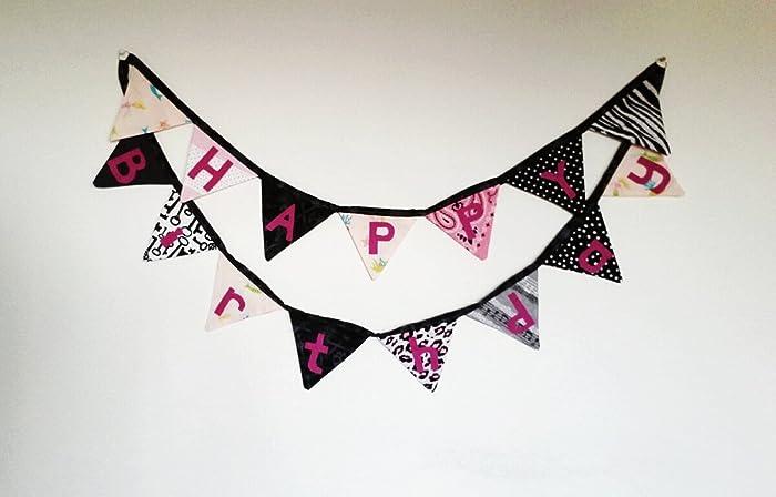 amazon com happy birthday cloth banner handmade