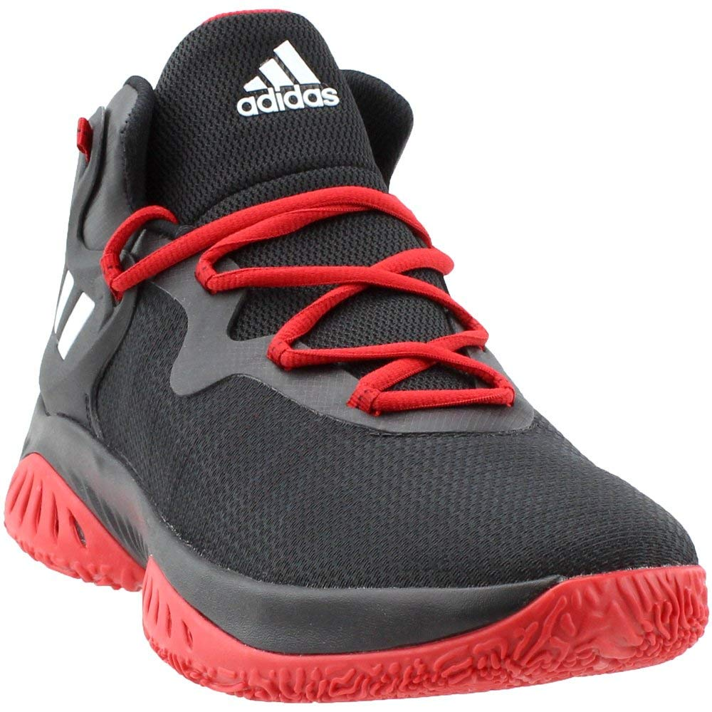sale retailer 3cf2e 03cac Galleon - Adidas Men s Explosive Bounce Basketball Shoes, Black White Scarlet,  (6.5 M US)
