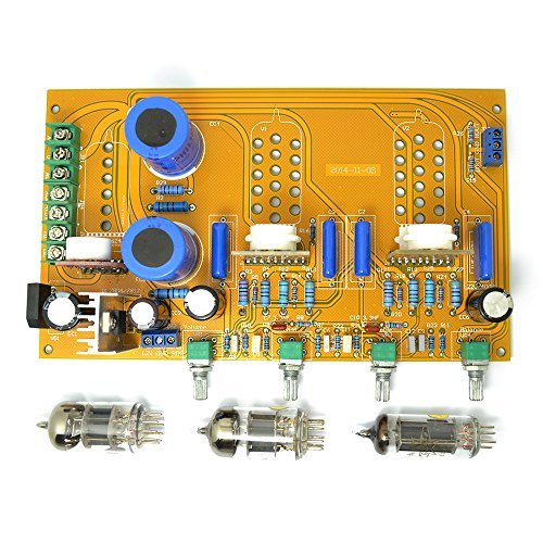 Pre Amplifier Board 6n1(6h23 6dj8 6922) 6z4 Tube Preamp Tone Ar with Volume Bass Treble Balance Adjustment by Q-BAIHE