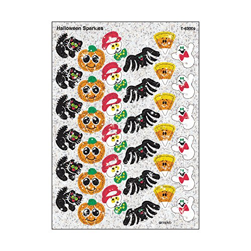 TREND enterprises, Inc. Halloween Sparkles Sparkle Stickers, 72 (Halloween Sparkle)