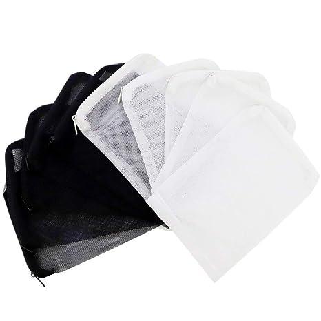 XelparucTS - Bolsas de Filtro reciclables para Acuario para carbón Activado, biosferas, cerámica (