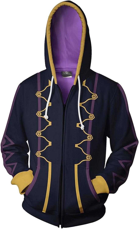 tianxinxishop Unisexe Jeu Cosplay Robin Costume Deguisement Sweat a Capuche Warriors avec Fermetures A Glissiere et Poches
