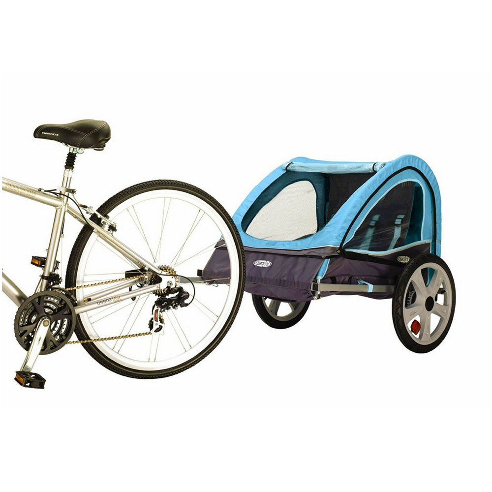 Toddler Bike Trailer Double Bicycle and for Yours Pets Durable Weather-Resistance Canopy Attaches to Most Bicycles Universal Wheels Foldable Easy Storageshock-Absorbing Frame by BS (Image #1)