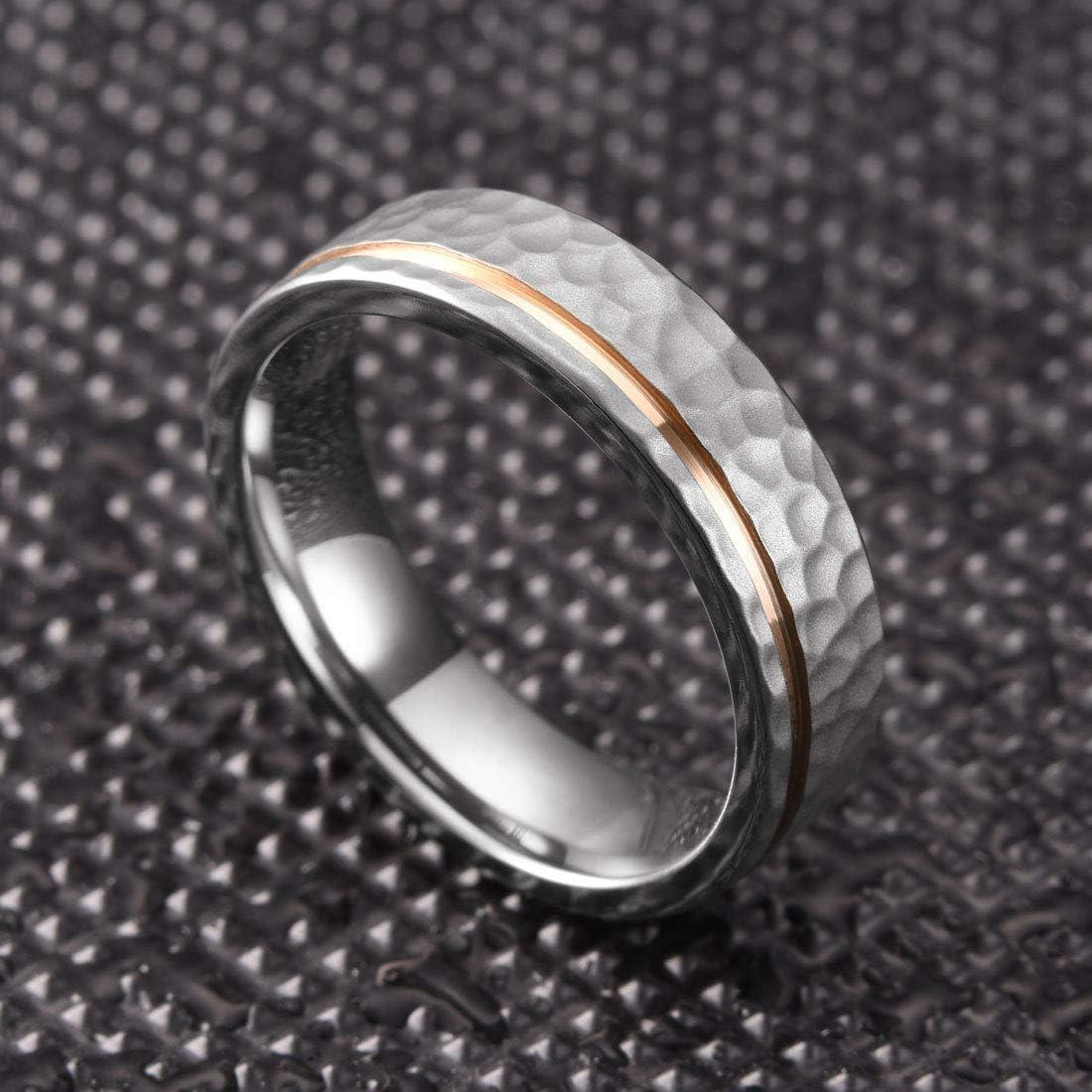 THREE KEYS JEWELRY Titanium Wedding Rings Fashion Bands for Mens Womens