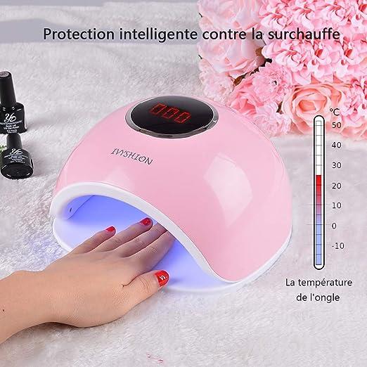 Lámpara de uñas LED, Soasa Secador de uñas UV Profesional 72W ...