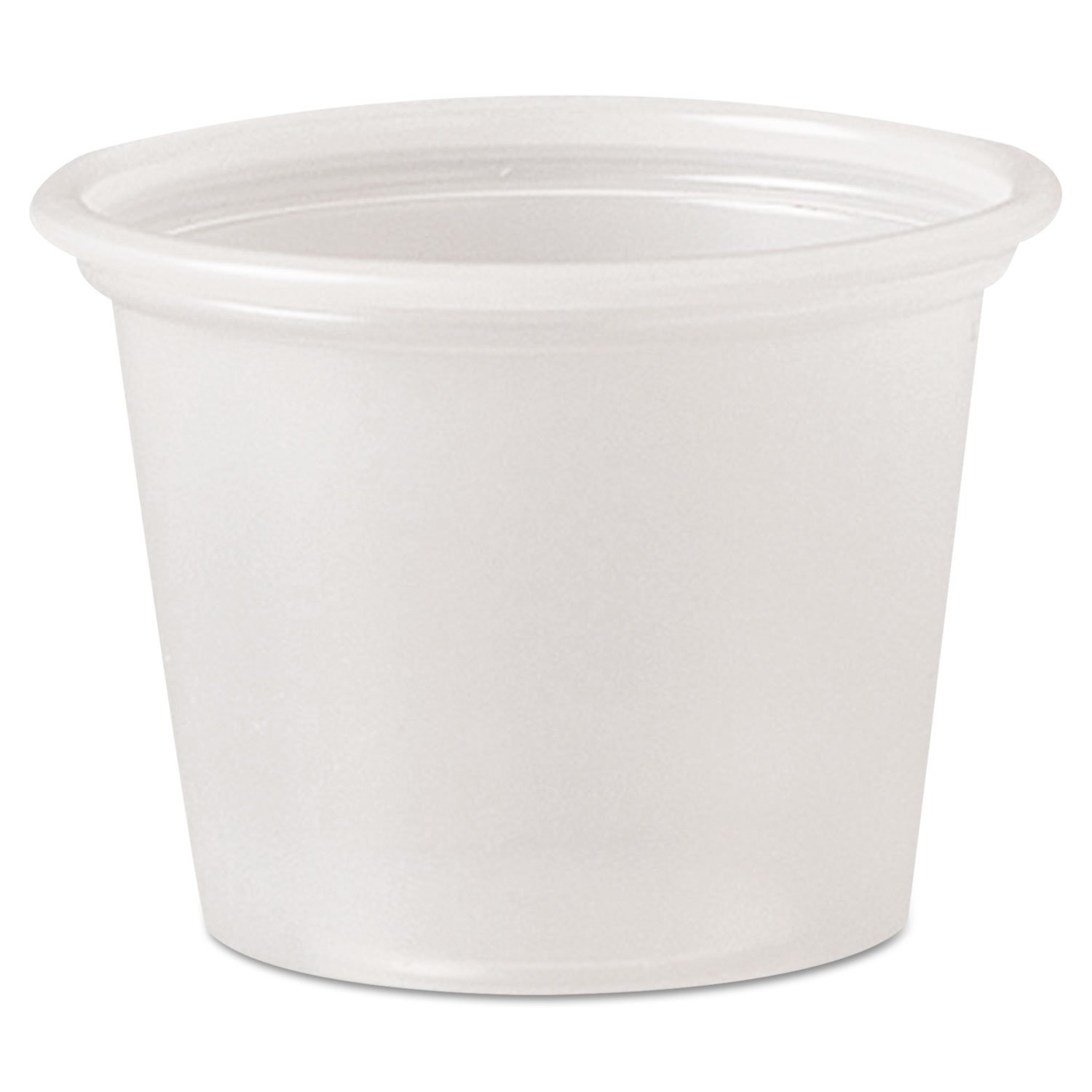 Solo Polystyrene Portion Cups, 1-ounce Medicine Souffle Cups, Translucent, Carton of 2,500 by DART