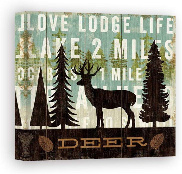 Impresión sobre Lienzo Wall Art Mullan Michael Simple Living Deer: Amazon.es: Hogar