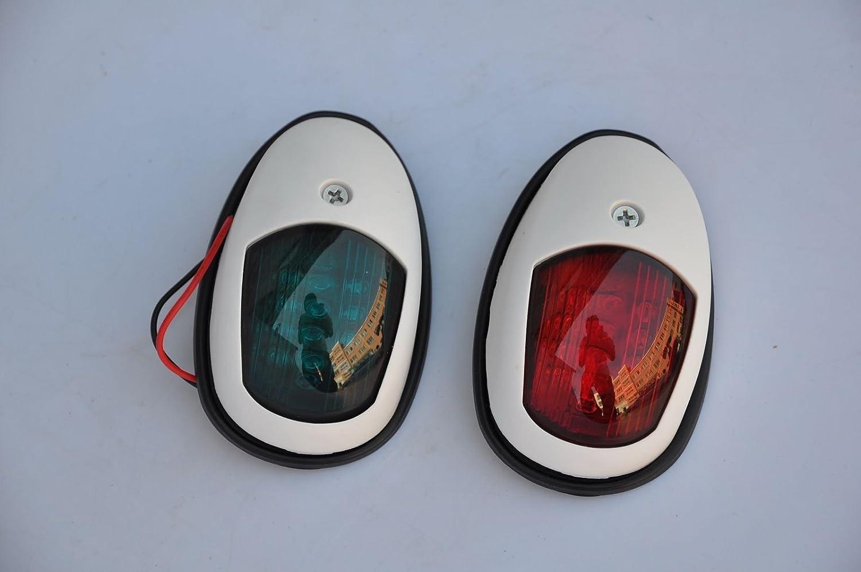 Une paire Navigation Nœud lumière LED Rouge/vert–Bateau Marine