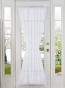"Stylemaster Elegance Sheer Voile Door Panel, 60"" x 72"", White"
