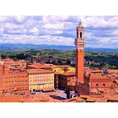 Discount Adult Jigsaw Puzzle Piazza del Campo Siena Tuscany Italy 500-Pieces for cheap