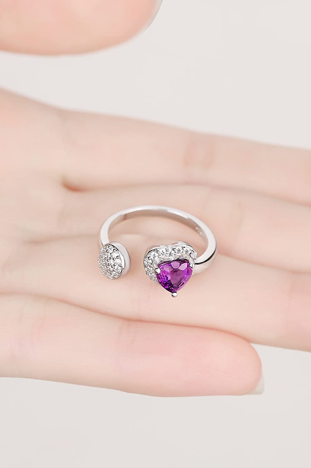 Amazon.com: ♥GIFTS FOR GRADUATION♥ Sterling Silver Purple Natural ...