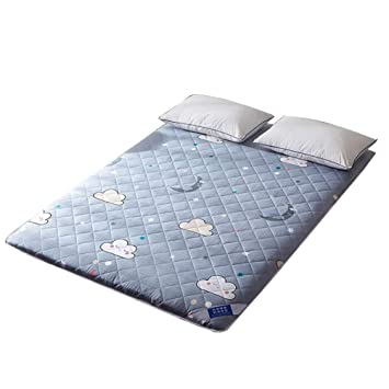 WENYAO Thicken Folding ColchóN del Piso del Tatami Estera, Double-Sided Quilted Topper Colchon