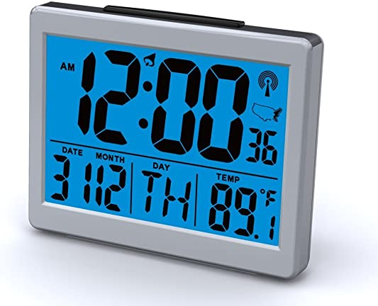 Atomic Desk bedroom Alarm Clock-1.5 Time Number, Back Blue Light