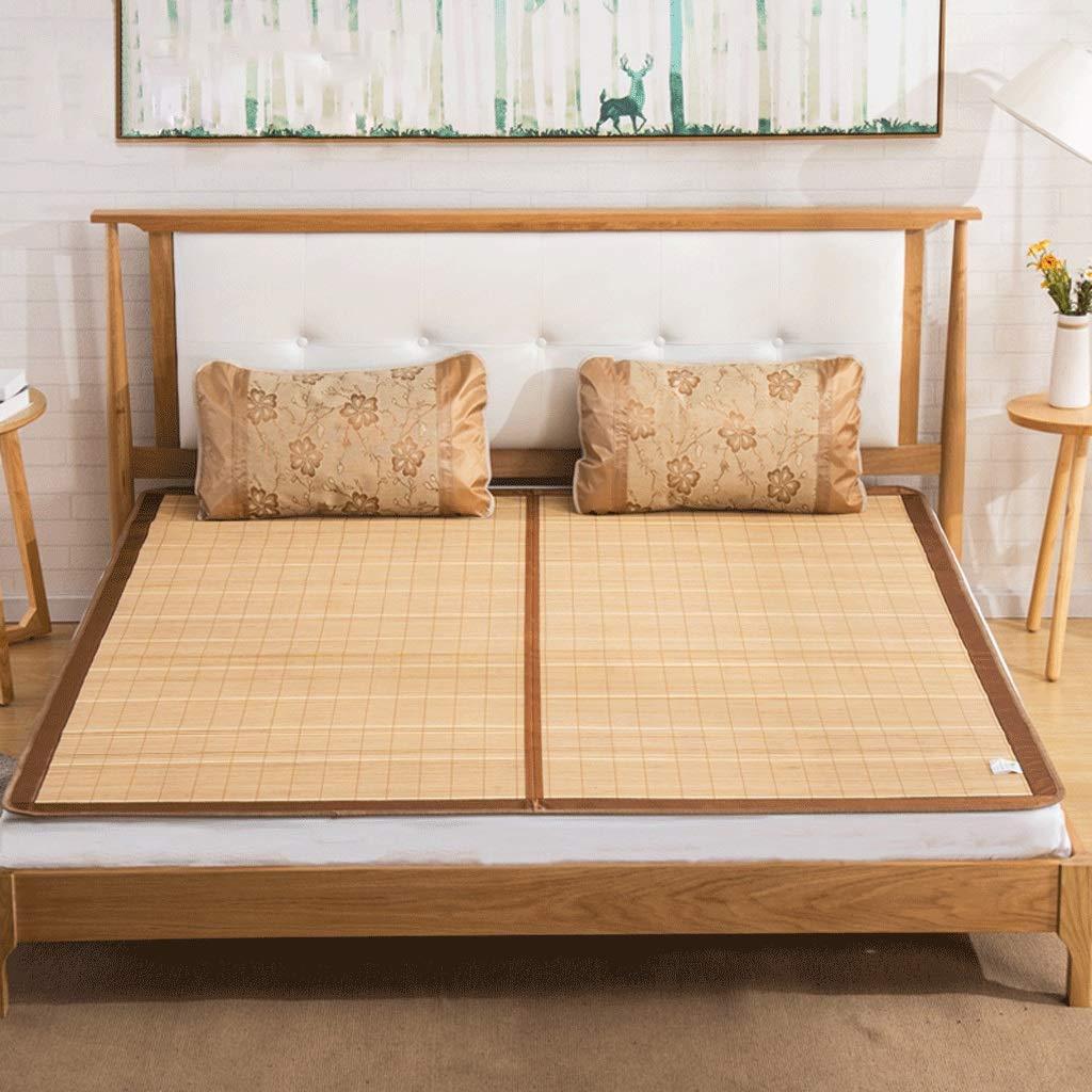DUAN GUO FENG DGF Qingsi Bambusmatte Sommer doppelseitiges Falten Student Dormitory Single Mat
