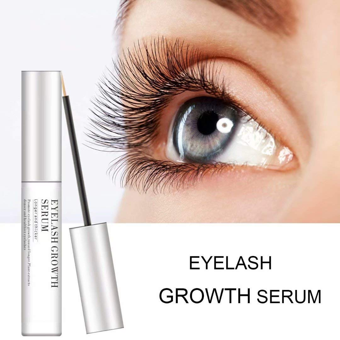 44c9339f2f7 Amazon.com: Eyelash Enhancer Serum, Eyelash & Brow Growth Serum Natural  Super Beauty Eyelashes Liquid for Longer, Thicker, Fuller Eyelash (0.17FL.