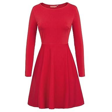 Trendy-Nicer Sleeve Solid Black Red Blue Vestido 2018 Autumn Vintage Dresses Tunique Dames Kleding