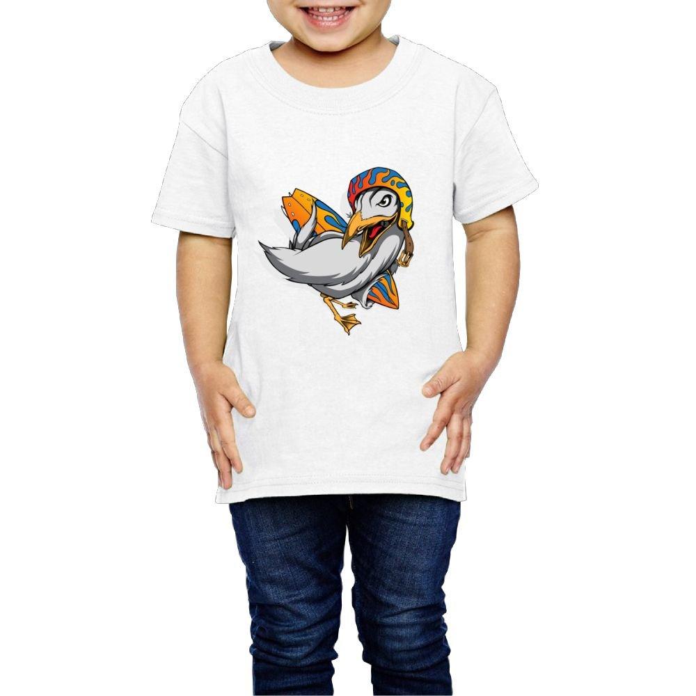 Moniery Cute Short-Sleeves T-Shirt Surfing Seagull Birthday Day Baby Boys Toddler