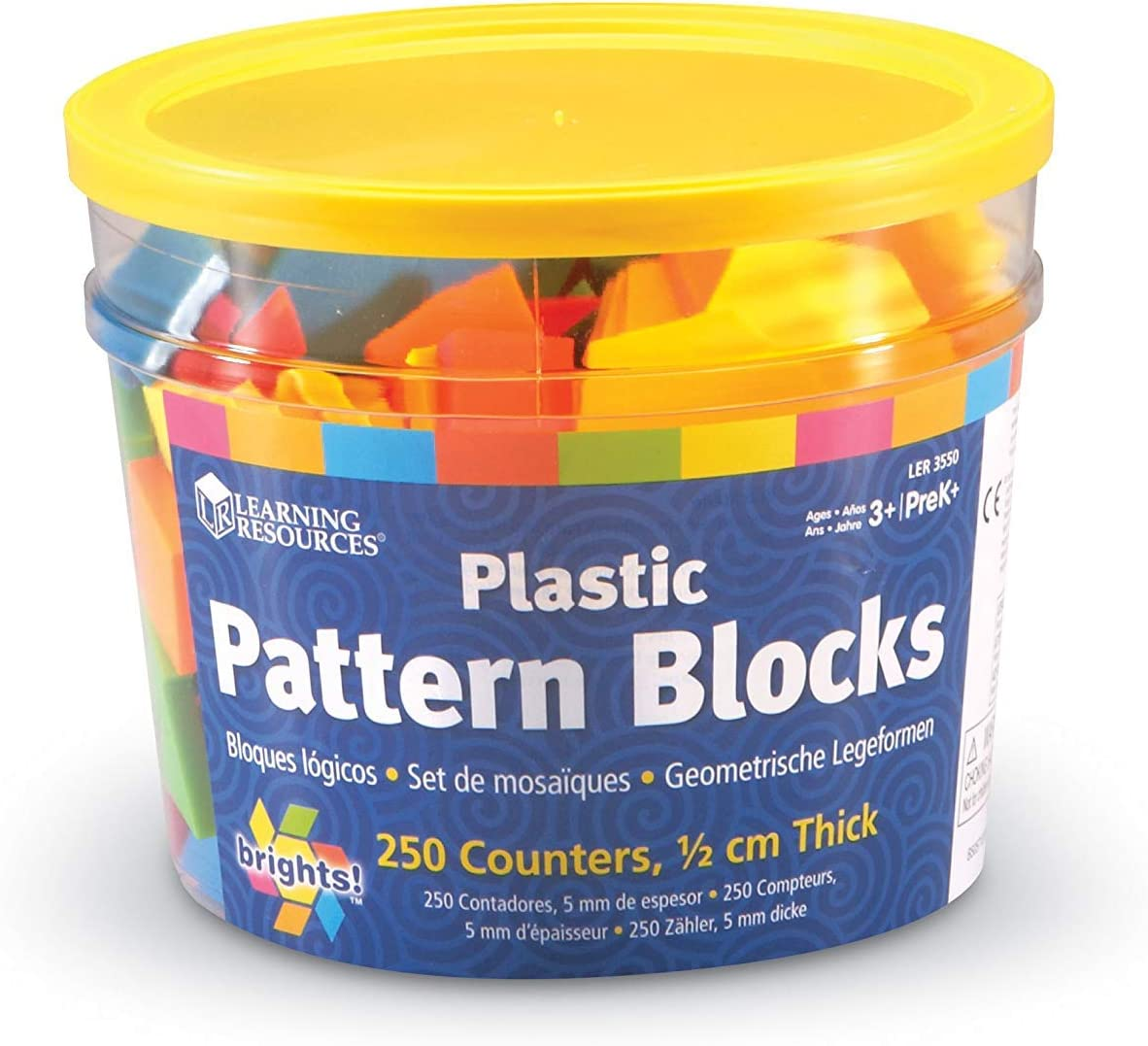 Learning Resources Brights Pattern Blocks - Satz of 250 (Bright)