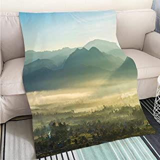 Luxury Super Soft Blanket Mountains View in Yading National Reserve Perfect for Couch Sofa or Bed Cool Quilt