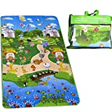 DOUBLE SIDED BABY CRAWLING PLAY MAT - Extra Large (120CM X 180CM) Reversible Baby Floor Mat, Educational Playmat & Play Gym for Babies offers