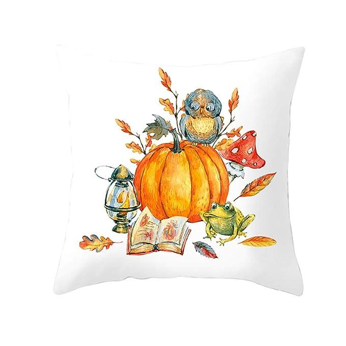 Funda de almohada Halloween- Estampado Coronas de Otoño ...