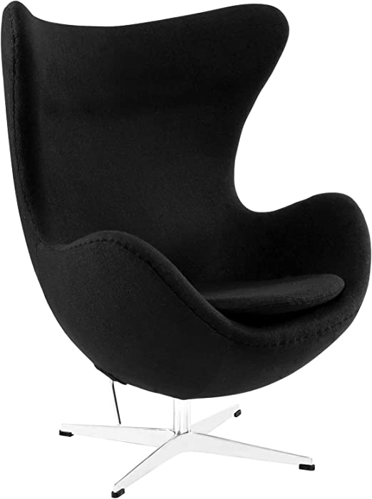 Egg Chair Arne Jacobsen Kopie.Amazon Com Arne Jacobsen Egg Chair Black Home Kitchen