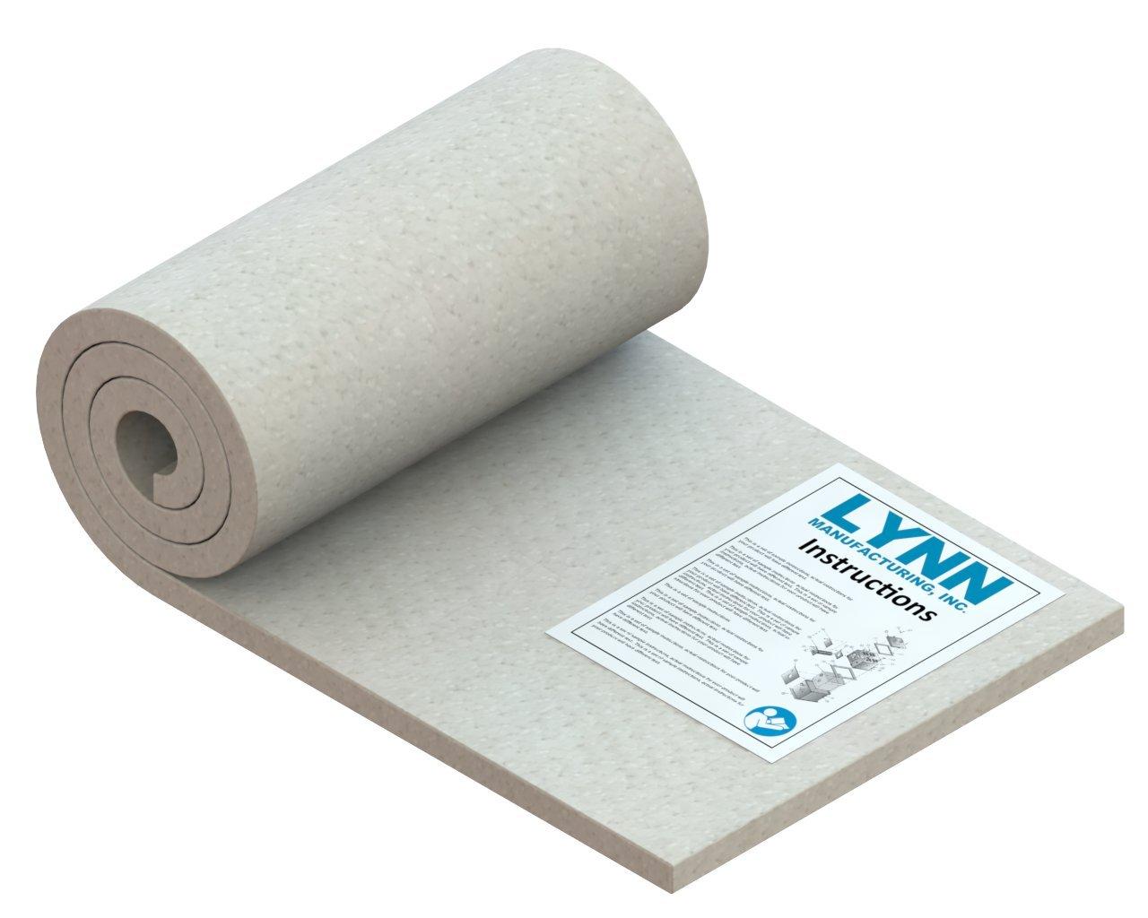 """Lynn Manufacturing Kaowool 2300F Ceramic Fiber Blanket, 56"""" x 14"""" x 3/4"""""""
