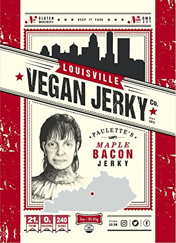 Louisville Vegan Jerky - Maple Bacon, 3 oz. Bag