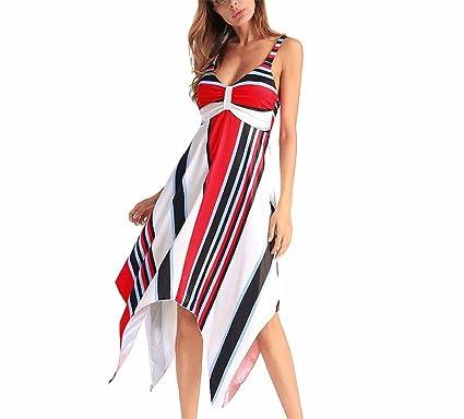 DYEWD Vestidos Vestidos de Las Mujeres, Europa y los Estados Unidos nuevos Vestidos de Verano