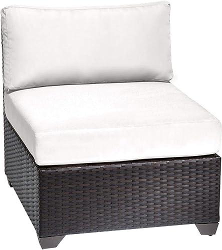 TK Classics TKC020b-AS-DB-WHITE Barbados Seating Outdoor Furniture, Sail White