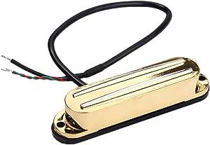 ギターピックアップ アルニコ5 シングルコイル デュアルホットレール - ゴールド