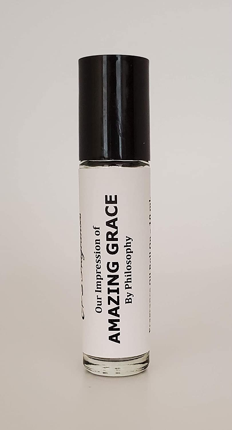AMAZING GRACE (FOR WOMEN) PREMIUM QUALITY FRAGRANCE IMPRESSION SUPER CONCENTRATED PURE HYPOALLERGENIC BODY OIL ROLL ON 10 ML