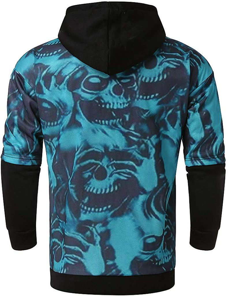 Dumanfs Fashion Men Hooded Sweatershirt Winter Sportswear Patchwork Pullover Long Sleeve Blouse