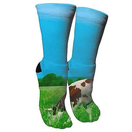 Cows on greens Mens//Womens Socks