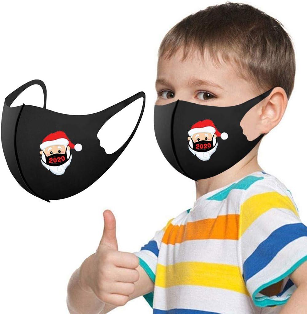 Annly 1PC Weihnachten Drucken Gesichtsbedeckung f/ür Kinder Waschbar mit Ohrschlaufen Einstellbarer Cartoon Wiederverwendbar Gesichtsschal Staubdicht Winddichtes Gesicht Bandana