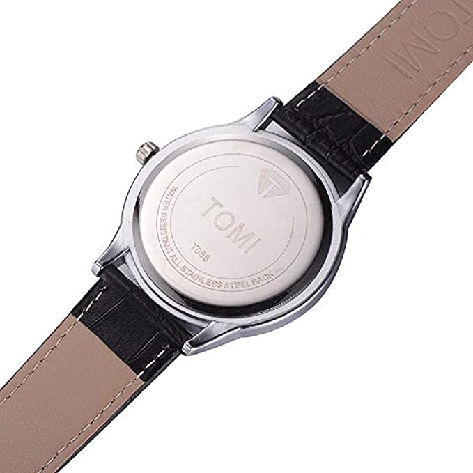 Amazon.com: Windoson Mens Wrist Watch Big Face Retro Pointer Leather Analog Quartz Business Watches (D): Electronics